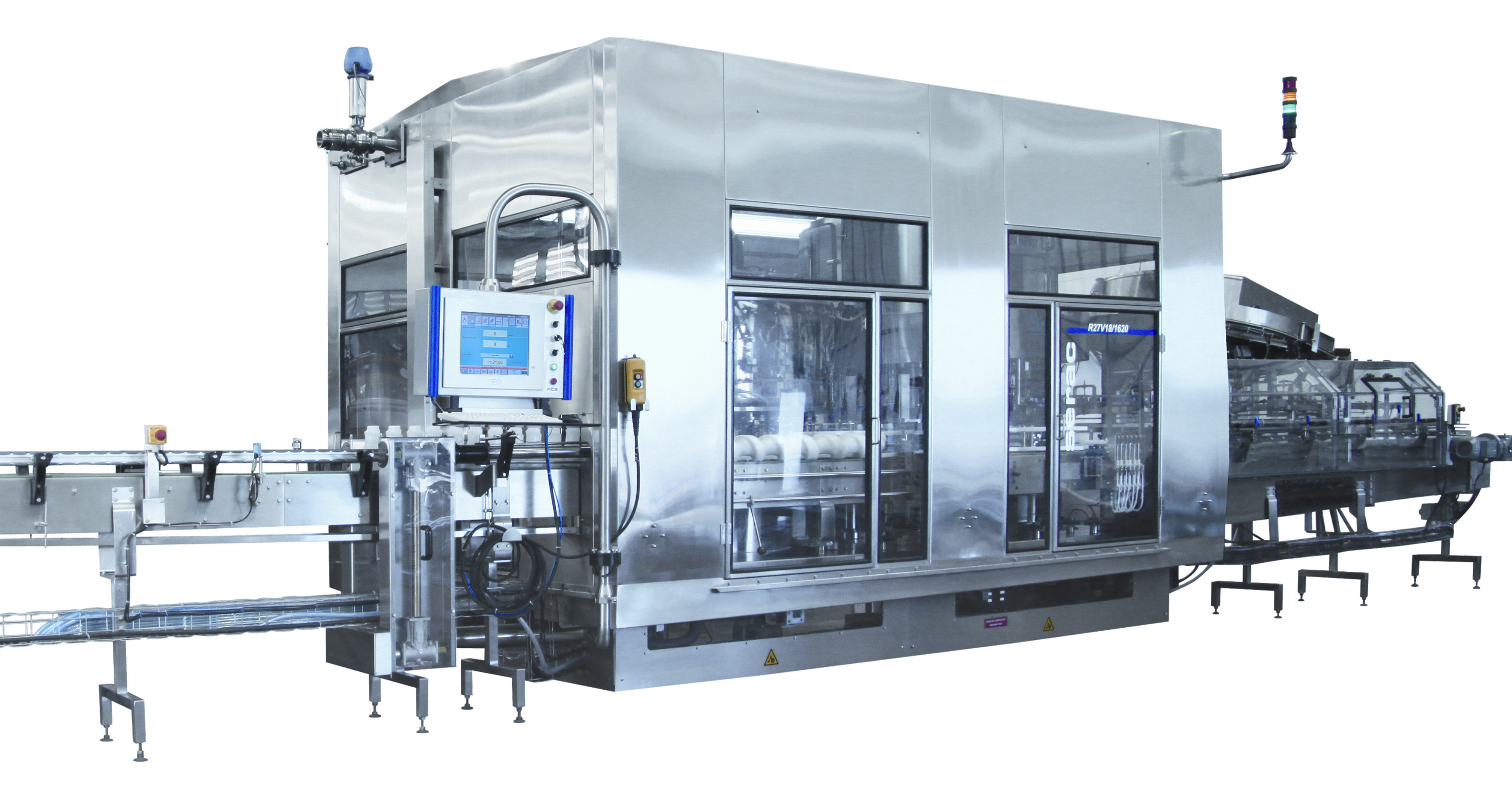 As a standard, the machines are built completely in stainless steel (or adapted materials such as titanium or hastelloy)