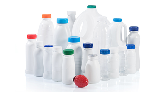 Dairy products in bottle