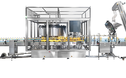 Filler capper for edible oil with fully enclosed cabin