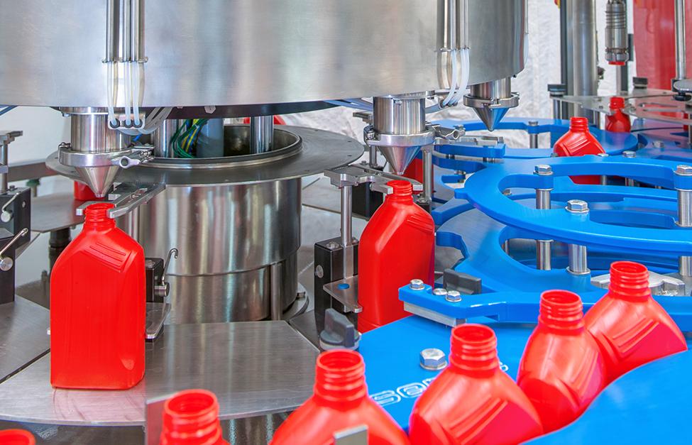 LUBRIFIANTS – Clapets sous vide spécialement conçus pour conditionner une gamme complète d'huiles de 200ml à 10 litres – RB