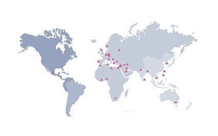 Des agents dans plus de 45 pays
