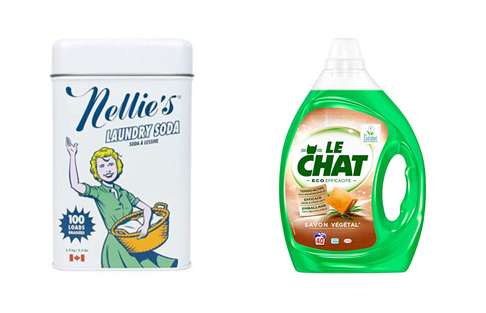 Photo credit: the totally natural powdered laundry of the Canadian brand Nellie's / Le Chat natural laundry detergent, HENKEL