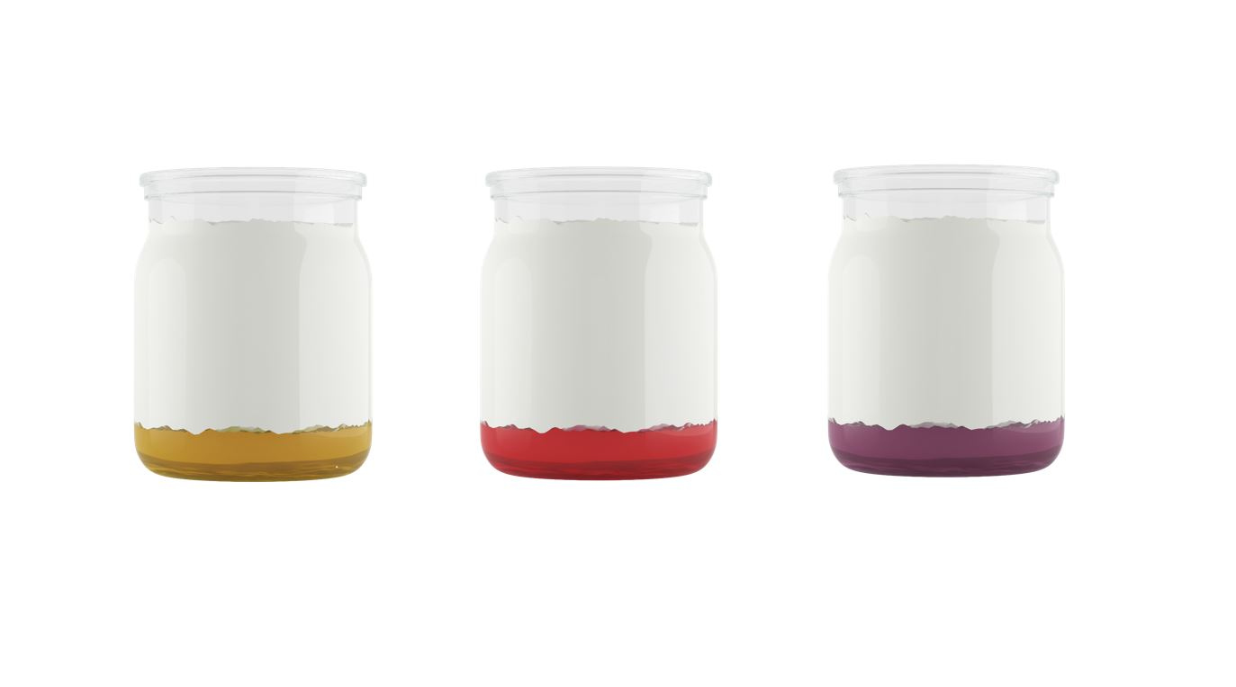 PET cups for yoghurts and dairy desserts